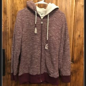 Teens XL heathered purple Sherpa lined jacket
